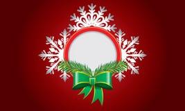 Αφηρημένο σχέδιο με snowflake και διάστημα για το κείμενο Στοκ εικόνες με δικαίωμα ελεύθερης χρήσης