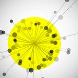 Αφηρημένο σχέδιο μορίων Στοκ Φωτογραφίες