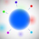 Αφηρημένο σχέδιο μορίων Στοκ εικόνα με δικαίωμα ελεύθερης χρήσης