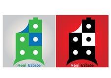 Αφηρημένο σχέδιο λογότυπων κιβωτίων ακίνητων περιουσιών σπιτιών Στοκ Φωτογραφία