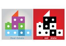 Αφηρημένο σχέδιο λογότυπων κιβωτίων ακίνητων περιουσιών σπιτιών Στοκ φωτογραφία με δικαίωμα ελεύθερης χρήσης