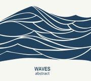 Αφηρημένο σχέδιο λογότυπων κυμάτων νερού Αθλητισμός Logotype γ κυματωγών καλλυντικών απεικόνιση αποθεμάτων