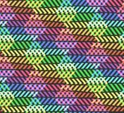 Αφηρημένο σχέδιο ουράνιων τόξων τρεκλίσματος σπασιμάτων με το ρόμβο ελεύθερη απεικόνιση δικαιώματος