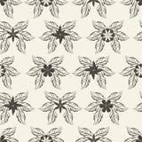Αφηρημένο σχέδιο λουλουδιών, απεικόνιση Στοκ Εικόνα