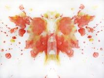 Αφηρημένο σχέδιο πεταλούδων watercolor Στοκ εικόνες με δικαίωμα ελεύθερης χρήσης