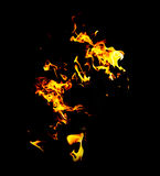 Αφηρημένο σχέδιο πυρκαγιάς με εκτός από την επιλογή Στοκ Φωτογραφία