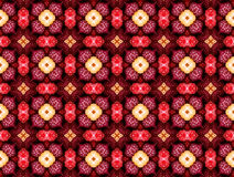 Αφηρημένο σχέδιο στους κόκκινους τόνους Στοκ Φωτογραφία