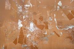Αφηρημένο σχέδιο στο καφετί μέταλλο Στοκ φωτογραφία με δικαίωμα ελεύθερης χρήσης