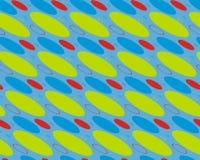 Αφηρημένο σχέδιο στο μπλε με τους κύκλους Στοκ Εικόνες