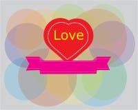 Αφηρημένο σχέδιο συμβόλων αγάπης Διανυσματική απεικόνιση