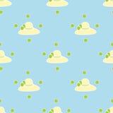 Αφηρημένο σχέδιο σχεδίων υποβάθρου καπέλων θηλυκό μπλε Στοκ φωτογραφίες με δικαίωμα ελεύθερης χρήσης