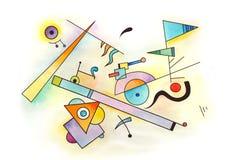 Αφηρημένο σχέδιο τέχνης Απεικόνιση αποθεμάτων
