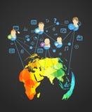 Αφηρημένο σχέδιο του σύγχρονου κοινωνικού δικτύου Στοκ φωτογραφία με δικαίωμα ελεύθερης χρήσης