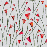Αφηρημένο σχέδιο τριαντάφυλλων floral άνευ ραφής ανασκόπησης Τυποποιημένο σχέδιο λουλουδιών για το κλωστοϋφαντουργικό προϊόν, τύλ Στοκ φωτογραφία με δικαίωμα ελεύθερης χρήσης