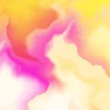 Αφηρημένο σχέδιο υποβάθρου χρώματος, ζωηρόχρωμο σχέδιο λωρίδων κυμάτων κλίσης με την επίδραση watercolor Στοκ Εικόνα