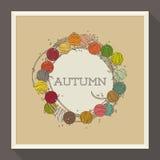 Αφηρημένο σχέδιο φθινοπώρου με τις ζωηρόχρωμες χάντρες. Διάνυσμα Στοκ Φωτογραφία