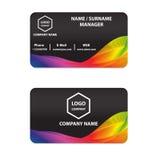 Αφηρημένο σχέδιο χρώματος επαγγελματικών καρτών Στοκ φωτογραφία με δικαίωμα ελεύθερης χρήσης