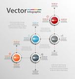 Αφηρημένο σχέδιο Infographic για την επιχείρησή σας με πέντε βήματα Στοκ Φωτογραφία
