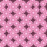 Αφηρημένο σχεδίων καλοκαίρι ομορφιάς λουλουδιών άνευ ραφής ρόδινο διανυσματική απεικόνιση