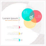 Αφηρημένο σχεδιάγραμμα σχεδίου κύκλων Στοκ φωτογραφία με δικαίωμα ελεύθερης χρήσης
