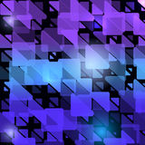 Αφηρημένο σύγχρονο αρχικό υπόβαθρο με τα διαφανή τρίγωνα Γεωμετρικό ελαφρύ σχέδιο μόδας επίσης corel σύρετε το διάνυσμα απεικόνισ Στοκ εικόνες με δικαίωμα ελεύθερης χρήσης