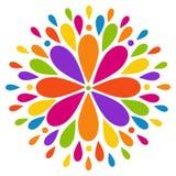 Αφηρημένο σύγχρονο ζωηρόχρωμο λουλούδι Στοκ εικόνα με δικαίωμα ελεύθερης χρήσης