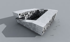 Αφηρημένο σύγχρονο κτήριο Στοκ Φωτογραφίες