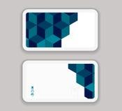 Αφηρημένο σύγχρονο πρότυπο σχεδίου επιχείρηση-καρτών Στοκ εικόνες με δικαίωμα ελεύθερης χρήσης