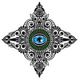 Αφηρημένο σύμβολο να όλος-δει το μάτι διανυσματική απεικόνιση