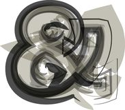 Αφηρημένο σύμβολο Ampersand Στοκ Φωτογραφίες