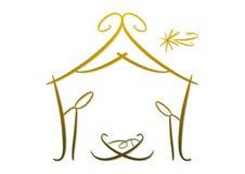 Αφηρημένο σύμβολο nativity Στοκ Φωτογραφία