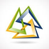Αφηρημένο σύμβολο σχεδίου, επιχειρησιακό εταιρικό σημάδι Στοκ Φωτογραφία