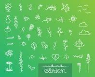 Αφηρημένο σύνολο γραφικής παράστασης κήπων Στοκ Εικόνα
