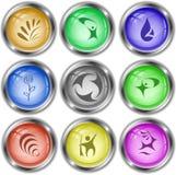 Αφηρημένο σύνολο Διανυσματικά κουμπιά Διαδικτύου Στοκ εικόνα με δικαίωμα ελεύθερης χρήσης