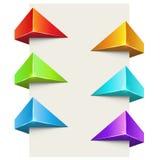 Αφηρημένο σύνολο ετικετών χρώματος polygonal τρισδιάστατο απεικόνιση αποθεμάτων