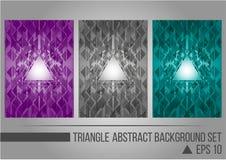 Αφηρημένο σύνολο υποβάθρου τριγώνων Στοκ εικόνα με δικαίωμα ελεύθερης χρήσης