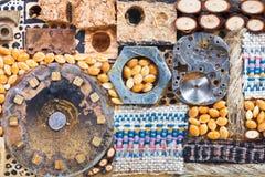 Αφηρημένο σύνολο φυσικών και μηχανικών αντικειμένων Στοκ Φωτογραφίες