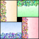 Αφηρημένο σύνολο χρώματος λεπτομερών κάθετο πληροφοριών ορθογωνίων Στοκ Εικόνες