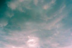 Αφηρημένο σύνολο χρώματος ουρανού, σύννεφα με το υπόβαθρο Στοκ εικόνα με δικαίωμα ελεύθερης χρήσης