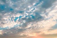 Αφηρημένο σύνολο χρώματος ουρανού, σύννεφα με το υπόβαθρο Στοκ Εικόνες