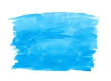 Αφηρημένο σύστασης βουρτσών μελανιού χρώμα παφλασμών watercolor aquarel υποβάθρου μπλε στο άσπρο υπόβαθρο Στοκ Εικόνα