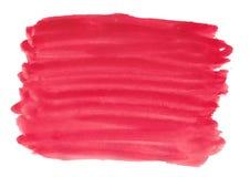 Αφηρημένο σύστασης βουρτσών μελανιού χρώμα παφλασμών watercolor aquarell υποβάθρου κόκκινο ρόδινο στο άσπρο υπόβαθρο Στοκ εικόνες με δικαίωμα ελεύθερης χρήσης