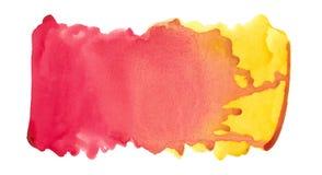 Αφηρημένο σύστασης βουρτσών μελανιού χρώμα παφλασμών watercolor aquarell υποβάθρου πολύχρωμο στο άσπρο υπόβαθρο Στοκ εικόνα με δικαίωμα ελεύθερης χρήσης