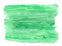 Αφηρημένο σύστασης βουρτσών μελανιού χρώμα χεριών παφλασμών watercolor aquarel υποβάθρου πράσινο στο άσπρο υπόβαθρο Στοκ φωτογραφία με δικαίωμα ελεύθερης χρήσης