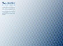 Αφηρημένο τετραγωνικό μπλε γεωμετρικό υπόβαθρο γραμμών λωρίδων διανυσματική απεικόνιση