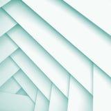 Αφηρημένο τετραγωνικό τρισδιάστατο υπόβαθρο με τα άσπρα στρώματα διανυσματική απεικόνιση