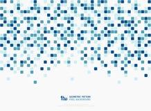 Αφηρημένο τεχνολογίας γαλαζοπράσινο σχέδιο σχεδίων κάλυψης διακοσμήσεων εικονοκυττάρου χρωμάτων τετραγωνικό r απεικόνιση αποθεμάτων
