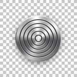 Αφηρημένο τεχνολογίας πρότυπο διακριτικών μετάλλων κύκλων γεωμετρικό διανυσματική απεικόνιση