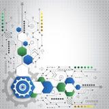 Αφηρημένο τεχνολογικό υπόβαθρο με τα διάφορα τεχνολογικά στοιχεία Στοκ Εικόνες