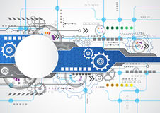 Αφηρημένο τεχνολογικό υπόβαθρο με τα διάφορα τεχνολογικά στοιχεία διάνυσμα απεικόνισης Στοκ φωτογραφίες με δικαίωμα ελεύθερης χρήσης